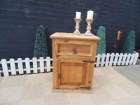MEXICAN WOOD CUPBOARD UNIT VERY SOLID AND IN VERY GOOD CONDITION 54/41/53 cm £30
