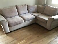 Next grey/mink corner sofa