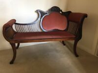 Chaise longue - traditional Victorian style chaise mahogany chaise longue