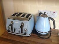 Delonghi Icona Vintage Kettle and Toaster