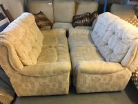 2 CREAM SOFAS (DELIVERY AVAILABLE)