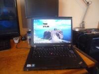 IBM Lenovo T400 Laptop 4gb Memory 160gb Hard Drive now only £60