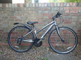 Ladies Bicycle - Ammaco cs250 sports hybrid, silver
