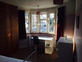 Lovely double room close to central line tube