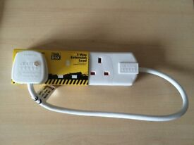 Extension Lead 50cm (3 Socket) Brand New 5 Available