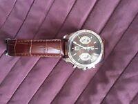 Tag Heuer Grand Carrera Calibre 17 Brown Leather Strap