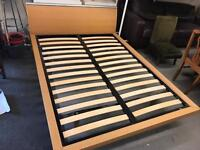 Double ikea bedframe (no mattress but take standard uk double size)