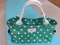 Kath Kidston green spotted hand bag VGC