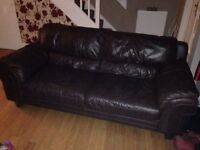 Leather sofa 3 seater/single seater