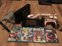 Wii U plus games and controllers