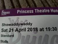 2 Tickets Showaddywaddy
