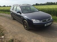 FORD MONDEO LX TDCI ESTATE, 04 PLATE, 3 MONTHS MOT, DIESEL, £395