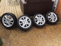 """17"""" genuine Renault Megane alloy wheels and tyres - Clio kangoo"""