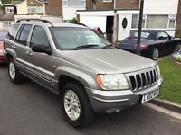 Jeep gran Cherokee 4.0 automatic 2002 facelift model 5 door station wagon 12 months mot history