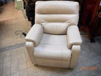 CREAM ELECTRIC LEATHER RECLINER