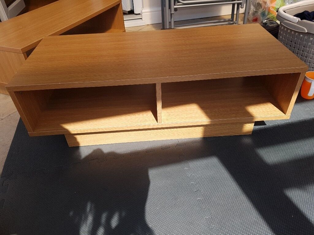 Argos Home Cubes Oak Effect Tv Unit Coffee Table And Cabinet Unit In Dinnington South Yorkshire Gumtree