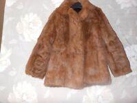 Ladies real fur jacket