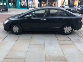Honda civic hybrid 1.3 litre petrol black colour 2008 MODEL