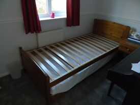 Single bed with under bed for sale!
