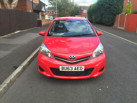 2013 63 Toyota Yaris Automatic M-Drive TR vvt-i Red low mileage top of the range