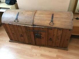 Treasure chest cabinet