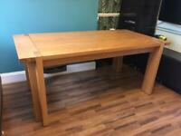 BRAND NEW Solid Wood Oak Veneer Extendible Dining Table-see Description! 🤍