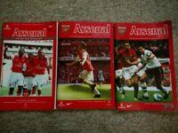 Arsenal football programmes