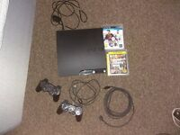 Play station 3 slim 160gb + 2 controller