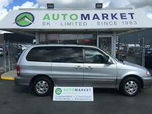 2003 Kia Sedona 89 Km, Leather, moon, Insp, Warr
