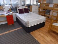 Yardley Double Divan bed base and mattress. High quality mattress and bed base. Divan in two pieces