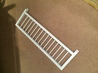 White Wooden Bed Guard - hardly used