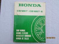 USED GENUINE HONDA MOTORCYCLE WORKSHOP MANUAL CB125 T -MK 2