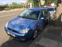 2002 52reg Ford Focus 1.6, 5 door, Manual, Blue, MOT end of 12/16 - Offers Accepted