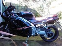 1997 Triumph Daytona T595 in vgc for year + extras, sale or swap for Smart car (Try me).