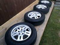 "Honda CRV mk2 15"" alloys and all-terain 4x4 tyres"