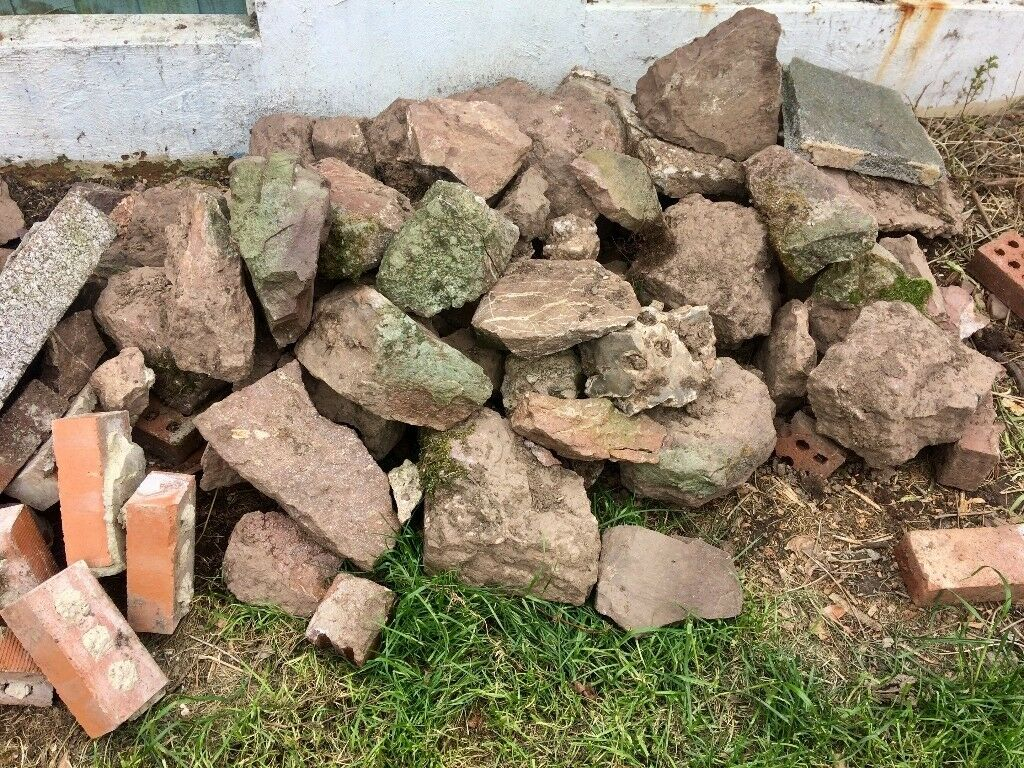 Rocks and bricks perfect for allotment, garden or pond - FREE | in ...