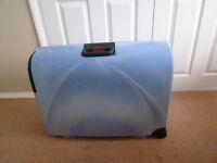 Carlton hard shell light blue suitcase