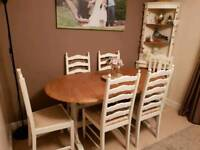 6 - 8 seater Dining Table & Chairs Shabby Chic Upcycled NEEDS TO GO ASAP