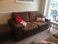 2x3 seater setee & large footstool