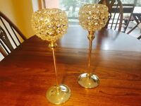 16 x Crystal goblet candle holder for wedding centrepieces (job lot)