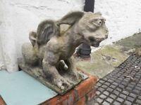 Large dragon garden stone statue