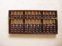 Japenese Style Wooden Abacus With Instruction Booklet