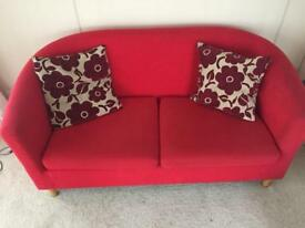Little red sofa