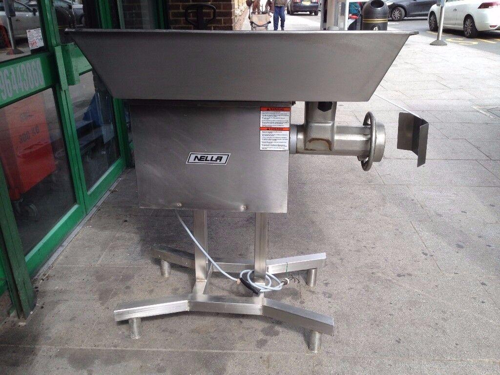 COMMERCIAL CATERING NELLA 32 MEAT MINCER GRINDER MACHINE BBQ KEBAB RESTAURANT CAFE BAR TAKE AWAY