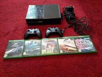 Xbox one 500gb 2 offical control pads and 5 top games swap for android phone. ...