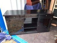 high gloss black sideboard