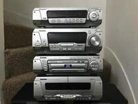 Technics hifi system dvd video changer with surround sound