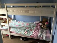 White Bunk Bed, good condition, frame only