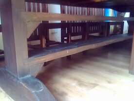 Gigantic Hardwood Dining Table and 8 Chairs