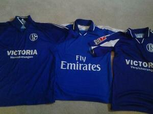 Like New 3 mens Bundesliga Soccer jerseys in large only $25!!!